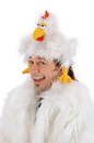 Elope The Clucker Costume Chicken Hat Adult One Size