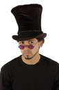 Shiny Black Victorian Top Hat Adult Costume Accessory One Size