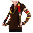Elope Doctor Who 4th Doctor Arm Warmers: Multicolor One Size Fits Most
