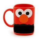 Enesco Sesame Street 10oz Stoneware Mug with Cookie Slot, Elmo