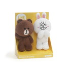 Enesco Line Friends Brown and Cony 4 Inch Plush Set of 2