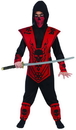 Funworld Red Skull Lord Ninja Costume Child Small 4-6