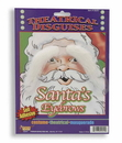 Forum Novelties White Santa Eyebrows Costume Accessory One Size