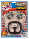 Hip Hop Rapper Star Moustache & Beard Costume Set