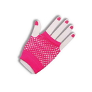 Forum Novelties 80's Neon Pink Fingerless Fishnet Adult Costume Gloves One Size