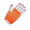 Forum Novelties 80's Neon Orange Fingerless Fishnet Adult Costume Gloves One Size