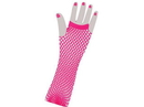 Forum Novelties Fishnet Long Fingerless Adult Costume Gloves Pink One Size