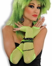 Forum Novelties Fishnet Fingerless Long Costume Glove Green One Size
