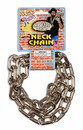 80's Rapper Big Link Silver Neck Costume Jewelry Chain Accessory