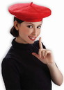 Forum Novelties FRM-65616-C Red Beret Adult Costume Hat