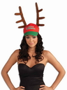 Forum Novelties Santa's Favorite Cap With Antlers Hat One Size Fits Most