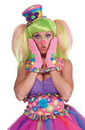 Forum Novelties Circus Sweetie Pink Ruffled Adult Costume Gloves One Size