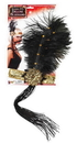 Forum Novelties Gold Sequin Adult Costume Flapper Headband With Black Feathers One Size