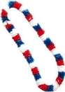 Forum Novelties Patriotic Red, White, And Blue Plastic Costume Lei Set of 12