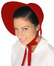 Forum Novelties Colonial Felt Bonnet Costume Hat Adult: Red One Size