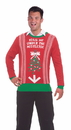 Forum Novelties Ugly Christmas Under The Mistletoe Adult Sweater