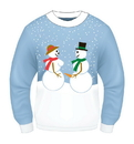 Forum Novelties Ugly Christmas Snow Couple Adult Sweater