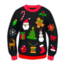 Forum Novelties Ugly Christmas Icon Adult Sweater