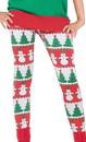 Forum Novelties FRM-72725-C Christmas Tree And Snowman Costume Leggings Adult Women
