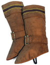 Forum Novelties Santa Claus Deluxe Brown Boot Top Covers One Size