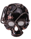 Steampunk Skull Costume Mask Bronze Adult