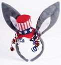 Democratic Donkey Ears Patriotic Costume Headband