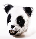 Forum Novelties FRM-77702-C Scary Panda Latex Adult Costume Mask