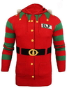 Forum Novelties Christmas Elf Hooded Knit Sweater