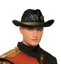 Forum Novelties Steampunk Cowboy Men's Costume Hat, Black