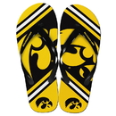 Forever Collectibles Iowa Hawkeyes Unisex Big Logo Flip Flops