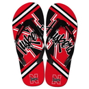 Forever Collectibles Nebraska Cornhuskers Unisex Big Logo Flip Flops Medium (W 9-10/M 7-8)