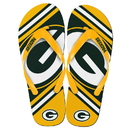 Forever Collectibles Green Bay Packers NFL Unisex Big Logo Flip Flops