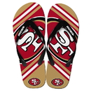 Forever Collectibles San Francisco 49Ers NFL Unisex Big Logo Flip Flops