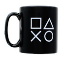 Games Alliance PlayStation Logo and Icons Black Ceramic Coffee Mug