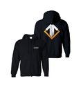 Gaya Entertainment Escape Gaming Large Logo Black Zip-Up Men's Hoodie