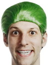 Self Destructors Men's Green Joke Adult Costume Wig