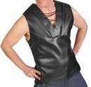 HMS Tv Reporter Bruno Black Faux Leather Costume Vest