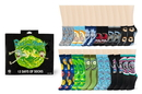 Hypnotic Socks HYP-IN2175-C Rick and Morty 12 Days of Socks Gift Set for Men and Women 6 Crew 6 Ankle