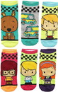 Hypnotic Socks HYP-IN2545-C Scooby-Doo Chibi Characters Womens Novelty Low-Cut Socks, 6 Pairs