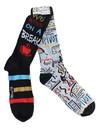 Hypnotic Socks HYP-IN2725-C Friends We Were On A Break Unisex Novelty Crew Socks, 2 Pairs , Size 6-12