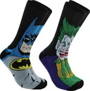 Hypnotic Socks HYP-IN2772-C DC Comics Batman and Joker Mens Novelty Crew Socks, 2 Pairs