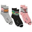 Hypnotic Socks HYP-IN2797-C Friends Womens Novelty Quarter Socks, 3 Pairs
