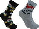 Hypnotic Socks HYP-IN2946-C Friends Lobster and Cerntal Perk Novelty Unisex Crew Socks, 2 Pairs