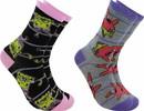 Hypnotic Socks HYP-IN2952-C SpongeBob SquarePants Womens Novelty Crew Socks, 2 Pairs