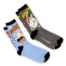 HYP Cuphead Adult Crew Sock 2-Pack - Bravo/ Knockout