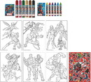 Innovative Designs IAD-4772-C Marvel Activity Egg Craft Kit, Coloring Pages, Stickers, Markers, Crayons