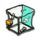 Imaginary People IMP-ADDG328MPN1-C Dungeons & Dragons Translucent Gelatinous Cube 1.5 Inch Enamel Collector Pin