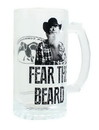 Just Funky Duck Commander Si Fear The Beard Clear Beer Mug