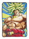 Just Funky JFL-DBZF-BL-26604-C Dragon Ball Z Broly 45 x 60 Inch Fleece Throw Blanket
