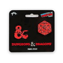 Just Funky Dungeons & Dragons D20 Die and Ampersand Exclusive Enamel Pin Set